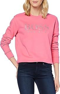 BOSS 女式 C Ebossa 法式毛衣,带水晶填充标志