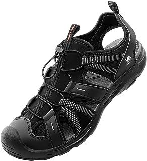CAMEL CROWN 男式防水徒步凉鞋闭趾夏季凉鞋防滑运动凉鞋适用于水上沙滩户外船钓鱼