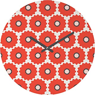 Deny Designs Holli Zollinger 珊瑚流行圆钟