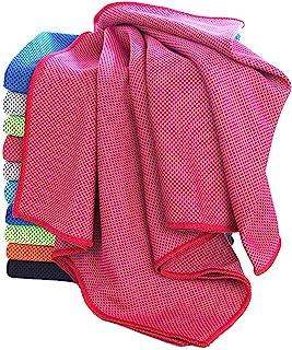 颈部的即时冷却毛巾,夏季清凉毛巾,*吸水性快冰毛巾,适合瑜伽、徒步、旅行、健身、普拉提、跑步、户外活动