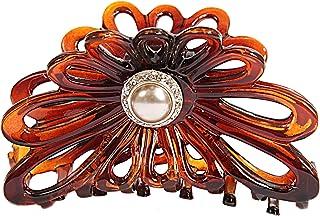 Caravan 手工装饰太阳花纹壳爪椭圆形珍珠/施华洛世奇石金色镶嵌 2 侧。 65 盎司