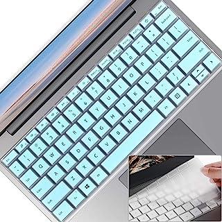 2 件笔记本电脑键盘保护套,适用于 Microsoft 微软 Surface 笔记本电脑 Go 12.4 英寸(2020),超薄透明软触摸键盘膜,Surface 笔记本电脑 Go (2020) 配件,美式布局,薄荷+透明