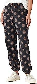 Lucky Brand 女式印花绒面厚绒布长裤