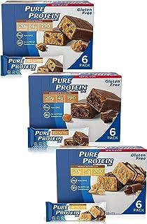 Pure Protein 营养蛋白棒,高蛋白,支持能量的营养小零食,低糖,无麸质,无负罪感的口味组合,1.76盎司,50克,每包18根