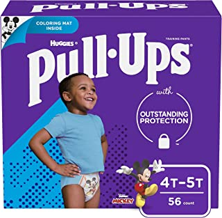 Pull-Ups Learning Designs Training Pants for Boys, 4T-5T (38-50 lbs.), 56 Count, Toddler Potty Training Underwear, Packagi...