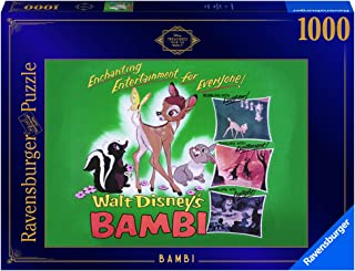 Ravensburger Disney Treasures from The Vault Bambi 1000 Piece Jigsaw Puzzle for Adults – Every Piece is Unique, Softclick ...