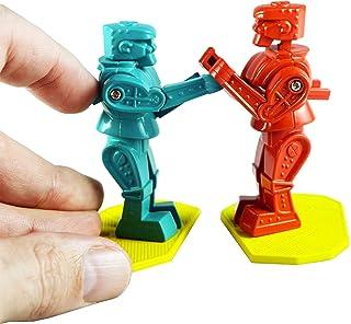 World's Smallest Rockem Sockem 机器人 - 经典游戏的微型版 - 完全可玩的原版 - 蓝色和红色拳击机器人游戏