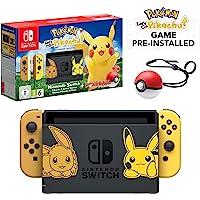 Nintendo 任天堂 Let's Go Pikachu 皮卡丘限量版 精灵宝可梦 Switch+ Let's Go…