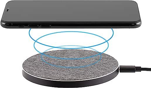 Philips Fabric 无线充电器,iPhone 11、Pro、Max、XR、XS Max、XS、X、X、8、Plus、10W 快速充电 Galaxy S10 S9 S8、Note 10 Note 9 及更多,灰色,DLP9035BC/27