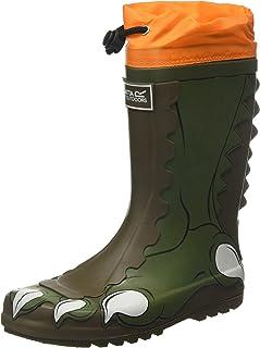 Regatta 中性儿童 Mudplay Welly 防水靴橡胶靴,普鲁士蓝宝石,27 欧码