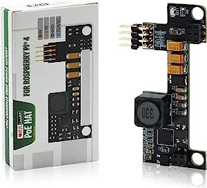 LoveRPi Power-OverEthernet (PoE) HAT 适用于 Raspberry Pi 树莓派 4 型号 B 和树莓派 3 型号 B+(小巧,不隔离)