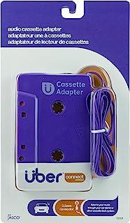 Uber 车载立体声卡带至辅助适配器,3.5 毫米耳机插孔,适用于智能手机、平板电脑、iPod、CD 播放器和其他移动设备,紫色,13191