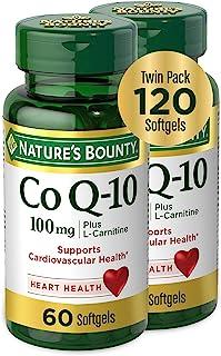 Natures Bounty 自然之宝 辅酶Q1O软胶囊100毫克,60粒+60粒两瓶装快速释放软胶囊