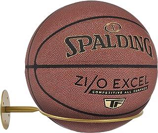 hodzumrac 壁挂式球架,运动球收纳架球架,篮球、排球、橄榄球、足球展示架(金色)