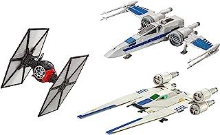Revell Build & Play S2183 星球大战*秩序特种*领军,阻力 X Rebel U 翼战斗机组合 3 件套著名太空船用于搭建和玩耍,多色