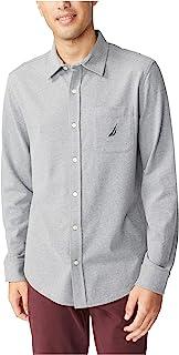 Nautica 男士长袖梭织衬衫