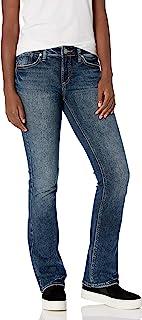 Silver Jeans Co. 女式 Elyse 中腰修身微喇牛仔裤