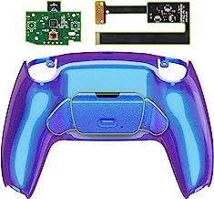 eXtremeRate 变色龙紫色蓝色可编程升降重新映射套件适用于 PS5 控制器、*板和重新设计的后壳和后按钮附件,适用于 DualSense 控制器 - 不包括控制器