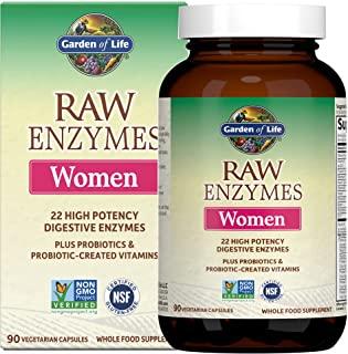 Garden of Life 生命花园 女性素食补充剂胶囊,气体和IBS的生酵素,90粒