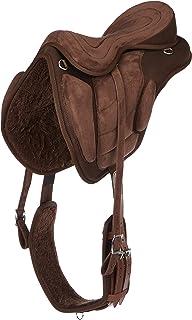 Cwell Equine 新款合成多用途无树马鞍棕色 尺寸 40.64 厘米/41.91 厘米/43.18 厘米 44.45 厘米