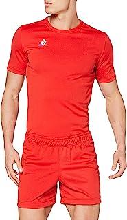 Le Coq 男士 N°1 训练短裤,橄榄球短裤,纯红色,M