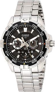 Casio Casio 男式 MTD-1069D-1AVDF 潜水器不锈钢手表