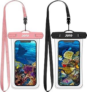 (2 件装) JOTO 通用防水袋手机保护套高达 7 英寸(约 17.8 厘米),全透明水下干燥袋适用于 iPhone 12 11 Pro Max XS XR X 8 7 6S,Galaxy S20 Ultra S10 Note10 游泳浮潜 ...