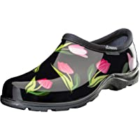 Sloggers 5120TLPBK06 郁金香黑色印花防水舒适鞋,6