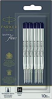 PARKER 派克 QUINKflow 圆珠笔替换装,中号笔尖,黑色,10支超值装