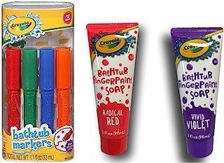 Crayola 浴缸马克笔 4 支装 + Crayola 浴缸手指油漆皂 2 支装