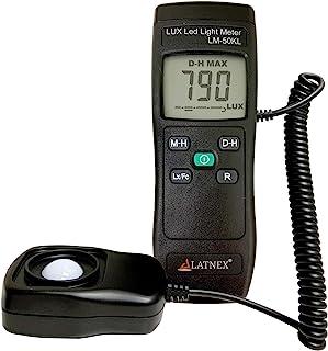 光表 LM-50KL 尺寸 Lux/Fc - LED/荧光、工业、家庭和摄影 - 包括校准证书