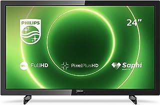 Philips 飞利浦 24PFS6805/12 24 英寸电视(全高清 LED 电视,Pixel Plus HDR 10,Saphi Smart TV 全频扬声器,3 x HDMI,2 x USB,非常适合游戏) - 黑色光泽[2020 年]