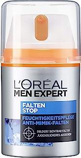L'Oréal Paris 巴黎欧莱雅 男士专家 抗皱保湿深度锁龄面霜 有效对抗细小皱纹和黑眼圈,1瓶装/50ml