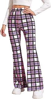 SOLY HUX 女式休闲高腰喇叭裤腿长裤
