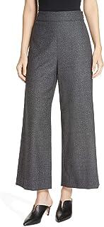 Rebecca Taylor 阔腿裁剪羊毛和丝绸混纺长裤,灰色,14