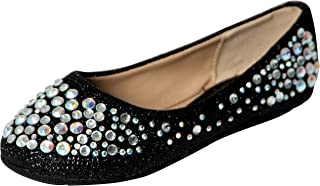 Link Larisa-39K Rubber Sole Ballet Flats for Girls Kids