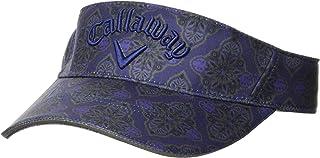 Callaway 女式 遮阳帽 ( 墙纸图案 ) 翻盖 : 吸汗速干 ) / 241-0291816 / 帽子 高尔夫