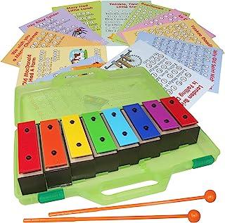 铃声棒 - 共振器铃声带歌曲 - Color Glockenspiel 8 Note 木琴套装 - 歌曲卡