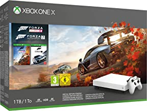 Xbox One X 1TB白色控制器– Forza Horizon 4捆绑包