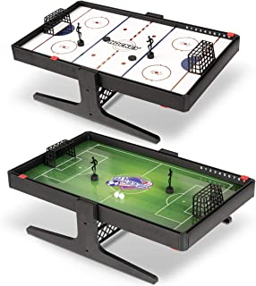 Sport Squad Flux 磁性双面足球和曲棍球桌面多种运动游戏套装 - 便携式迷你桌面套装 - 非常适合儿童和成人 - 磁铁微型桌面游戏