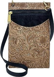 Danny K 女式挂毯斜挎包手机或护照钱包,美国制造 Tanner / Ash Small