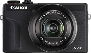 Canon 佳能 PowerShot G7 X Mark III(20.1 MP,可折叠7.5厘米3637C002  黑色