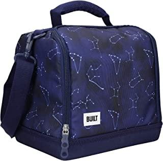 Built Bowery 保温午餐袋,防水隔热野餐冷却手提袋,适合工作和玩耍,柔软的聚酯纤维/PEVA,17.5 x 24 x 26 厘米 / 7 升('Galaxy')