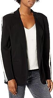 Norma Kamali 女士侧条纹单排扣夹克