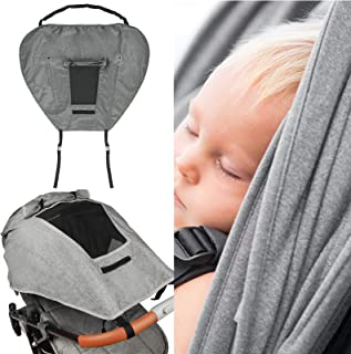 KeDuy 婴儿车遮阳罩通用婴儿车 遮阳罩 适用于婴儿车 防紫外线 防水 易于安装 (灰色)