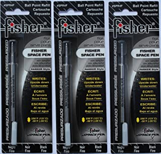 鱼缸太空笔 - 3 个加压墨盒黑色墨水细点 #spr4f