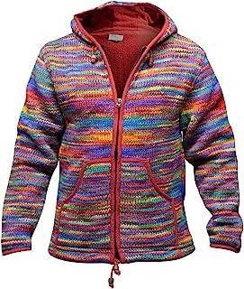 Shopoholic 时尚男式扎染羊毛嬉皮夹克