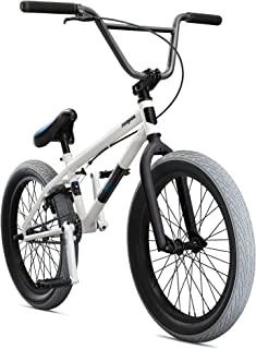 Mongoose Legion Street Freestyle BMX 自行车线适合初学者到高级骑手,Hi-Ten 钢或 4130 Chromoly 框架,Micro Drive 25x9T BMX 齿轮,U 型刹车带可拆卸支架和 20 英寸轮子