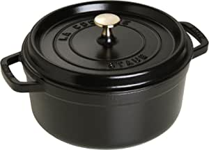 STAUB 珐宝 铸铁圆形锅, 24cm, 黑色