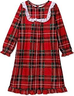 Komar Kids 女童传统假日格子睡衣